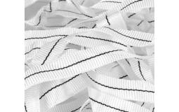 温室大棚配件高强度涤纶丝抗老化白色大棚压膜带压膜绳 宽1.5厘米300米