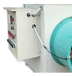 养殖场厂房车间用大型工业电暖风机加温大功率节能取暖器设备大棚畜牧花卉温室电炉烘干 制热量10KW/380v或220v(含15米风带)