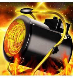 工业取暖器3KW380V5KW9KW商用大功率大面积节能暖风机工厂家用网吧养殖升温大棚烘干车间热风机 3KW/220V【热风炮】